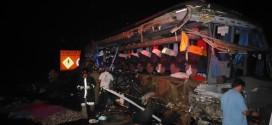 Sobe para 13 numero de mortos em acidente entre Ibitinga e Borborema