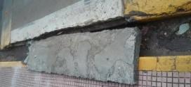 Faixa de pedestre em elevação está danificada em Ribeirão Bonito