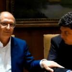 Alckmin e Fabrício durante o encontro (Foto: Antonio L.Teixeira)