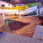 Ponte da avenida 7 de Setembro caiu (Foto: Divulgação)