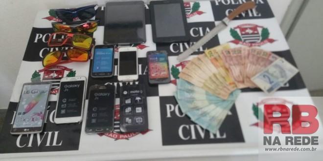 Polícia de Ribeirão Bonito recupera objetos e dinheiro roubados de loja