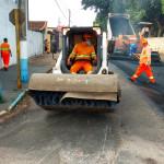 Prefeito Juninho Rogante esteve acompanhando o início das obras (Foto: Divulgação)