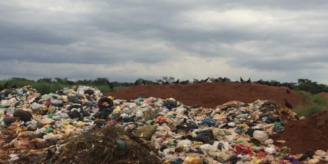 Canavial vira lixão próximo a aterro em Ribeirão Bonito